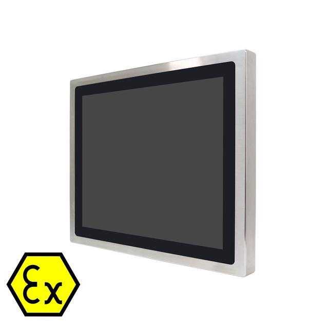 ATEX Monitorer i 316 rustfritt stål. Projected Capacitive