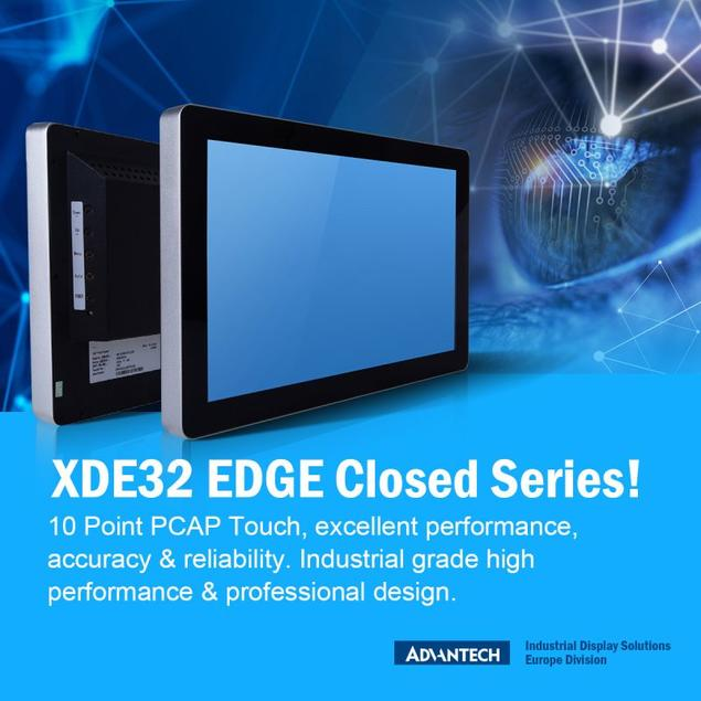 """The Advantech XDE32 Series are contemporary closed frame Edge-2-Edge monitors from 10.1"""" to 43"""" in size"""